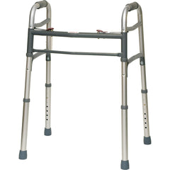 Compass Health: ProBasics Aluminum Two-Button Release Folding Walker Without Wheels - WKAAN2B