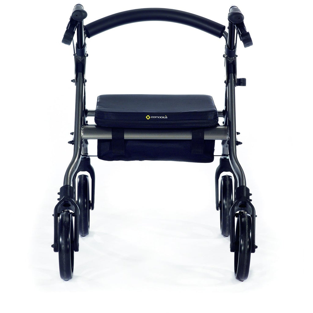 Comodita: Piccola Walker Rollator - COM 600 Navy Blue Back View