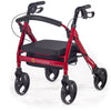 Comodita: Piccola Walker Rollator - COM 600 Red Front Side View