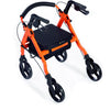 Comodita: Piccola Walker Rollator - COM 600 Orange Front Side View