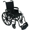 Carex: Probasics K4 High Performance Lightweight Wheelchair with Flip-Back Arms and Seat Extension - WC41616DS