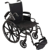 Carex: Probasics K4 High Performance Lightweight Wheelchair with Flip-Back Arms and Seat Extension - WC41616DS - Armrest View