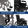 Image of Carex: Probasics K4 High Performance Lightweight Wheelchair with Flip-Back Arms and Seat Extension - WC41616DS - Product View