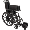 Carex: Probasics K4 High Performance Lightweight Wheelchair with Flip-Back Arms and Seat Extension - WC41616DS - Folded View