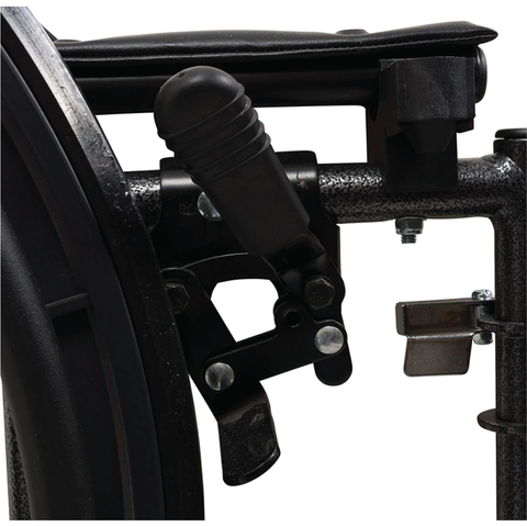 Carex: Probasics K4 High Performance Lightweight Wheelchair with Flip-Back Arms and Seat Extension - WC41616DS - Brakes View