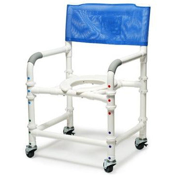 "Graham Field: Lumex 22"" PVC Knock-Down Shower Commode Chair - 89200-KD"