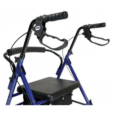 Graham Field: Lumex Set n' Go Height Adjustable Rollator -  RJ4700B brakes