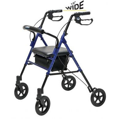 Graham Field: Lumex Set n' Go Wide Height Adjustable Rollator -  RJ4718R main image