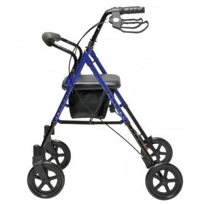 Graham Field: Lumex Set n' Go Wide Height Adjustable Rollator -  RJ4718R side view