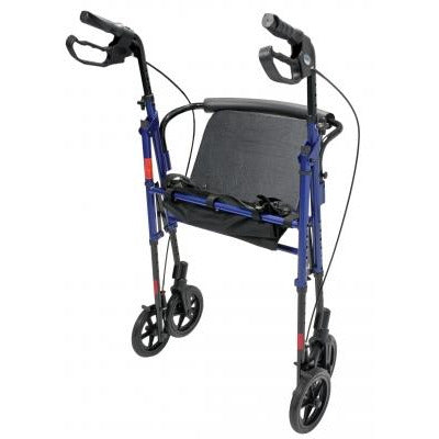 Graham Field: Lumex Set n' Go Wide Height Adjustable Rollator -  RJ4718R folded