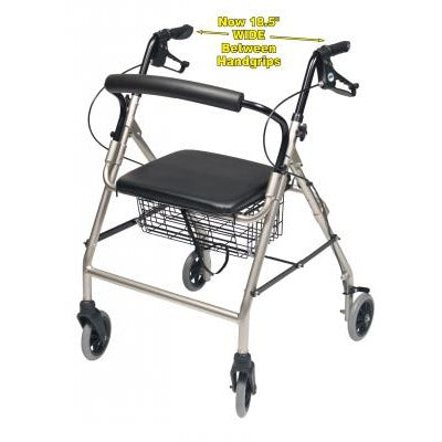 Graham Field: Lumex Walkabout Wide Four-Wheel Rollator - RJ4318AQ
