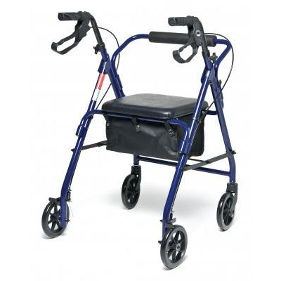 Graham Field: Lumex Walkabout Basic Four-Wheel Rollator -  RJ4900R blue