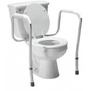Graham Field: Lumex Versaframe Toilet Safety Rail in Brown Box, Adjustable Height - 6465A-1