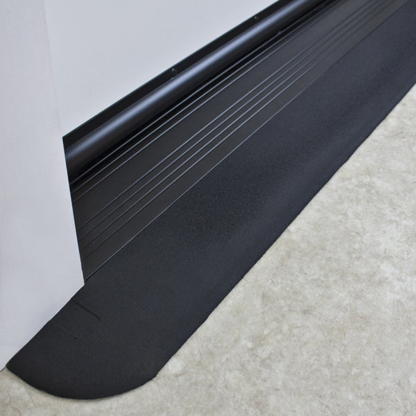 "SAFEPATH Products: EZ Edge Recycled Rubber Threshold Ramp (1/2"" Height)"