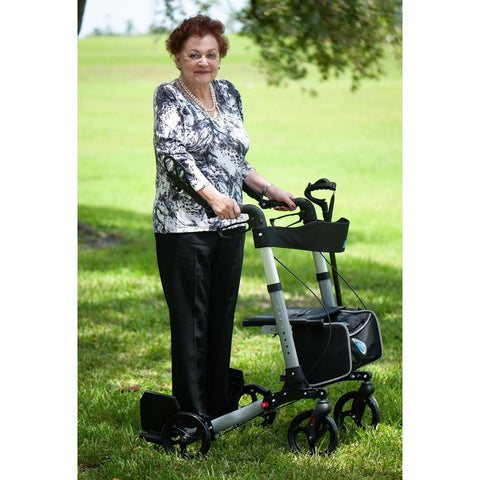 Ergoactives: Roller-Go Double Foldable Walker With Forearm Support - A042 - Easy Use