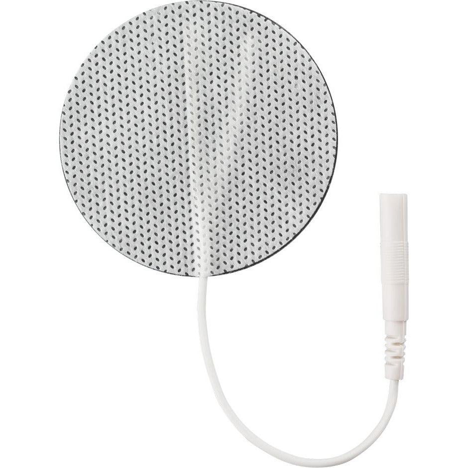 "ompass Health: Self-Adhesive Electrodes, 2"" Round White Cloth, Foil Pouch - EF2000WC2"