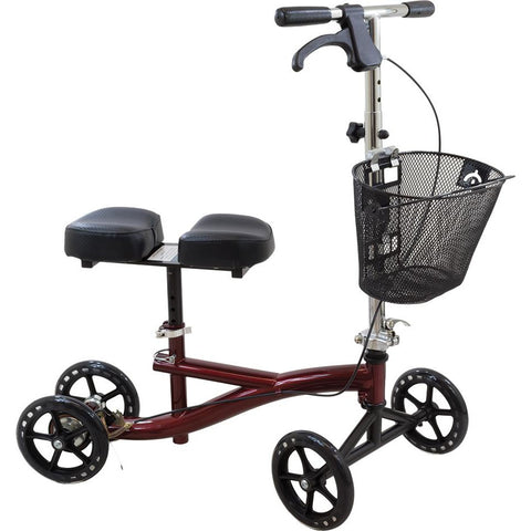 Compass Health: Roscoe Knee Scooter (Burgundy) - ROS-KSBG