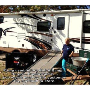 Roll-A-Ramp: RV Ramps / Trailer Ramps - Before Roll-A-Ramp - Front View