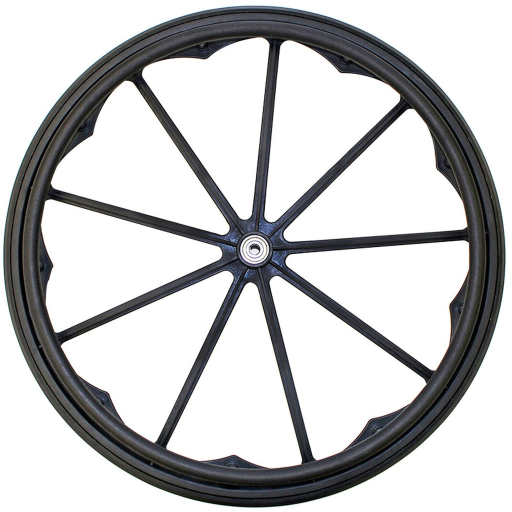 "New Solutions: 24 X 1"" MAG Wheel Invacare/Drive 9 Spoke Wheel Fits 1/2"" Axle - RW182"