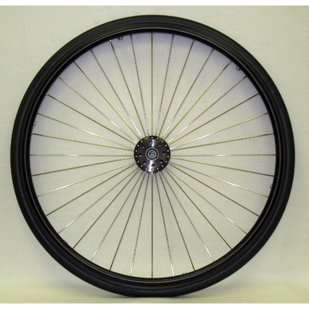 "New Solutions: High Performance Radial 36 Spoke 20-559 (25 x 1"") 3"" Flanged Hub - RW290"