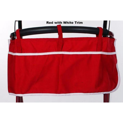 Granny Jo Products: Rollator Apron - Red with White Trim