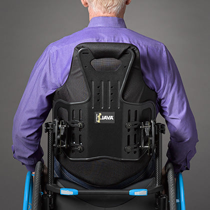 Ride Designs: Java Back for Wheelchairs - Back View