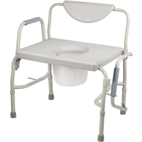 Drive Medical: Deluxe Bariatric Drop-Arm Commode - 11135-1