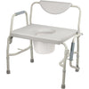Image of Drive Medical: Deluxe Bariatric Drop-Arm Commode - 11135-1