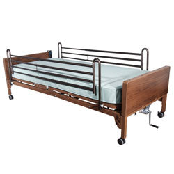 Compass Health: Semi Electric Single Motor Bed with - SMBED-RDLXMAT