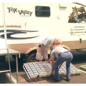 Roll-A-Ramp: RV Ramps / Trailer Ramps - Easy sets up and stores in sections