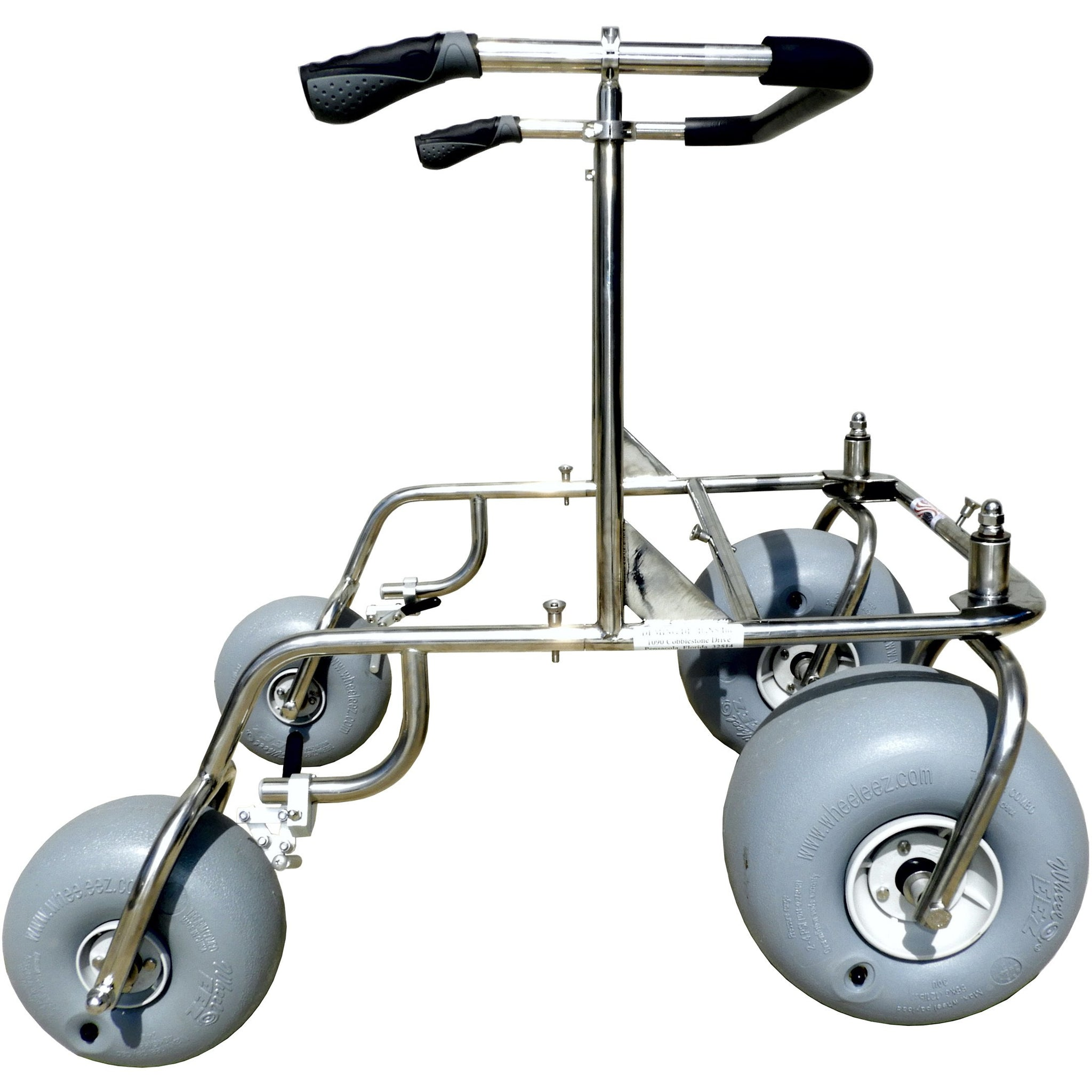 Debug Mobility: Foldable Lightweight All-Terrain Walker - Stainless Steel