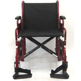 Karman Healthcare: T-920 & T-922 Deluxe Bariatric Transport Wheelchair – T-920 front