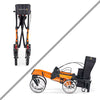 Comodita : Uno Classic Walker Rollator - COM500 Orange Double Fold