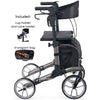 Comodita : Uno Classic Walker Rollator - COM500 Metallic Graphite Side View