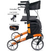 Image of Comodita: Tipo Classic Walker Rollator - COM 900 orange side view