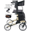 Image of Comodita : Uno Classic Walker Rollator - COM500 Beige Side View