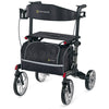 Comodita : Uno Classic Walker Rollator - COM500 Black Back View