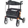 Image of Comodita : Uno Classic Walker Rollator - COM500 Orange Back View