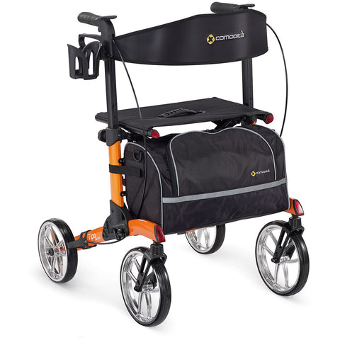 Comodita: Tipo Classic Walker Rollator - COM 900 Orange back view