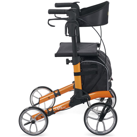 Comodita : Uno Classic Walker Rollator - COM500 Orange Side View