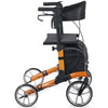 Image of Comodita : Uno Classic Walker Rollator - COM500 Orange Side View