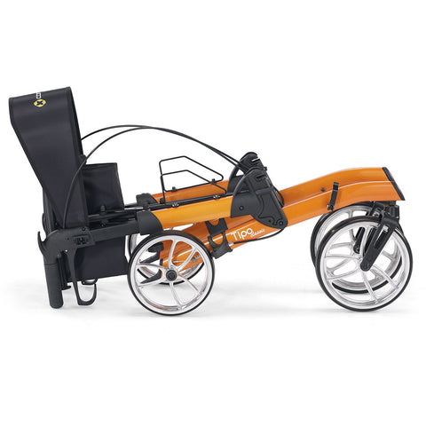 Comodita : Uno Classic Walker Rollator - COM500 Orange Totally Folded