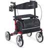 Image of Comodita : Uno Classic Walker Rollator - COM500 Red Front View
