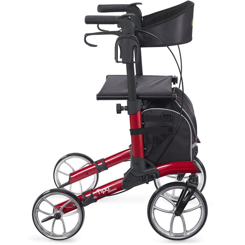 Comodita: Tipo Classic Walker Rollator - COM 900 Red Side View