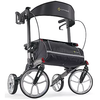 Image of Comodita: Tipo Petite Walker Rollator - COM 910 Black Front View