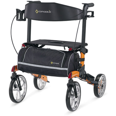 Comodita: Tipo Petite Walker Rollator - COM 910 Orange Front View