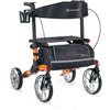 Image of Comodita: Tipo Petite Walker Rollator - COM 910 Orange Side View