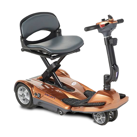 EV Rider: Transport AF+ Automatic Folding Mobility Scooter - S19AF Orange Side
