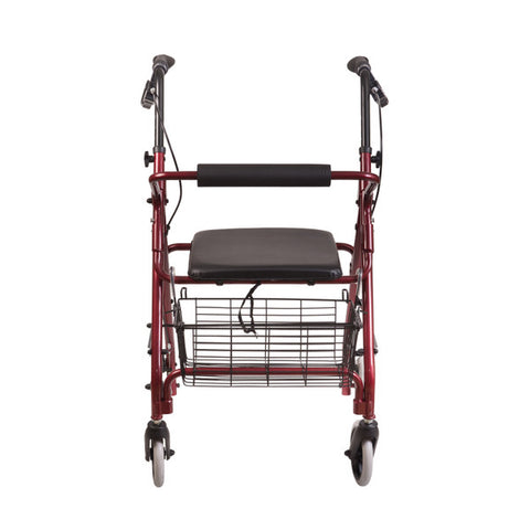 Healthsmart: Dmi® Ultra Lightweight Folding Aluminum Rollator Walker - 501-1012-0700 - Back View