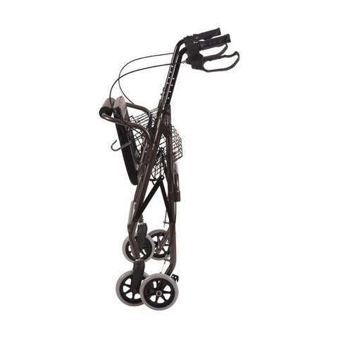 Healthsmart: Dmi® Ultra Lightweight Folding Aluminum Rollator Walker - 501-1012-0700 - Folding View